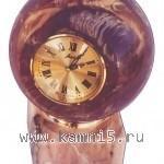Часы — шар из розового мрамора