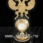 Красивые настольные часы с орлом