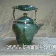 Чайник из нефрита с каменной ручкой