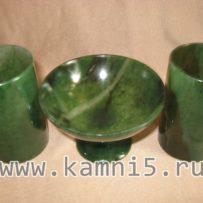 Креманица + 2 стакана из нефрита